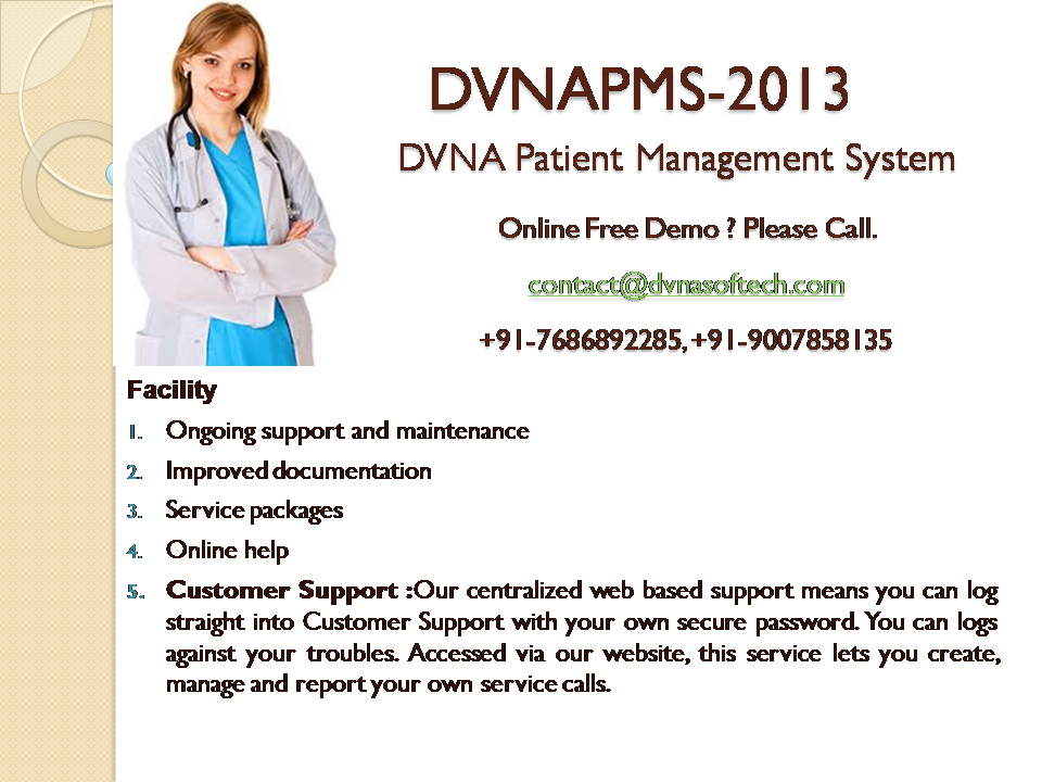 DVNAPMS-2013 | DVNA Patient Management System-2013 | Nursing Home | Hospital Management System